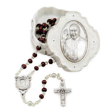 Pope Francis Rosary Gift Set