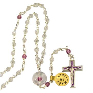 Swarovski Crystal Beads Sterling Silver Rosary