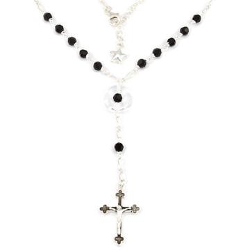 Catholic Rosary Necklace w/ Swarovski Crystal Beads