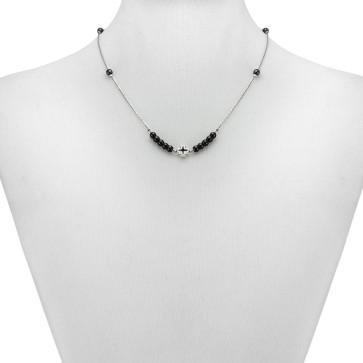 Catholic Hematite Beads Rosary Necklace