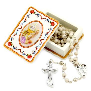 First Communion Rosary Gift Set