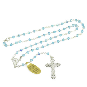 Rosary  with Swarovski Crystal Beads and Clasp