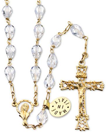 Swarovski Teardrop Beads Catholic Rosary