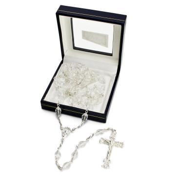 Sterling Silver Swarovski Crystal Beads Rosary