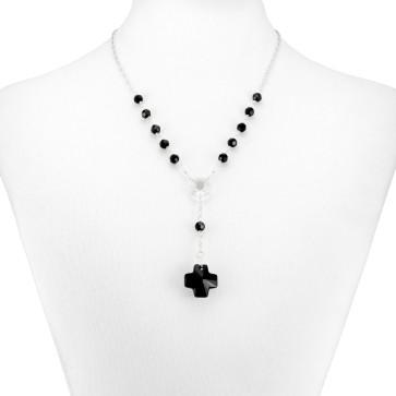 Swarovski Crystal Beads Rosary Necklace