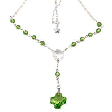 Rosary Necklace w/ Swarovski Crystal Beads