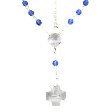 Rosary Necklace w/ Swarovski Crystal Beads 0