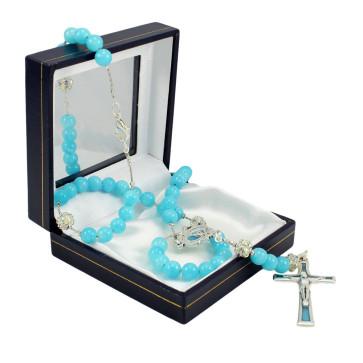 Rosary with Jade Stone Beads