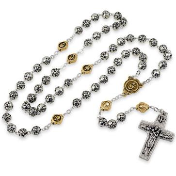 Catholic Rosebud Rosary Gold Paters