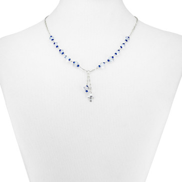 Swarovski Butterfly Beads Catholic Rosary Necklace