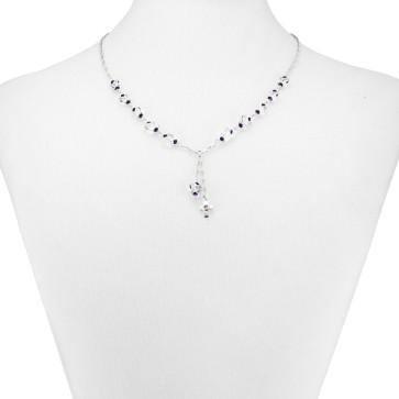 Swarovski Butterfly Beads Catholic Rosary Necklace