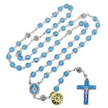 Catholic Rosary with Swarovski Crystal Beads