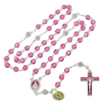 Rosary with Swarovski Crystal Beads