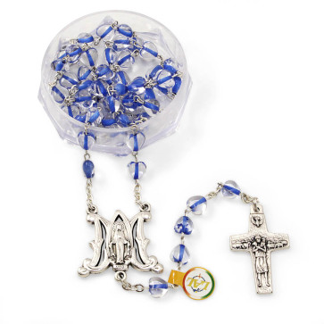 Miraculous Crystal Heart Beads Rosary-gal