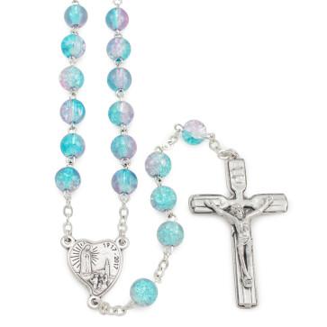 Fatima  Centennial Rosary Beads Violet