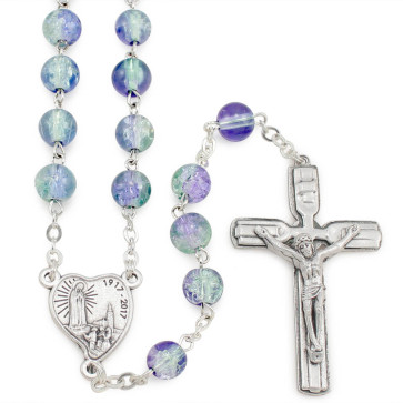Fatima Centennial Rosary Violet and Green Beads