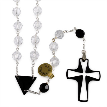 Swarovski Crystal Cross Catholic Rosary