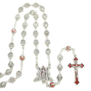 Divine Mercy Catholic Rosary Gift Set w/ Keychain