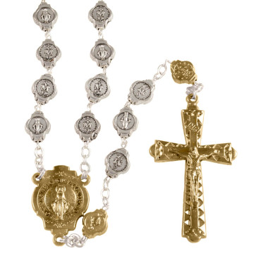 Miraculous Metal Beads Rosaries