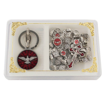Confirmation Rosary Set with Keychain