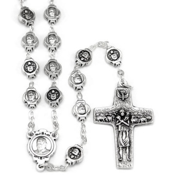 Rosary Metal beads Pope Francis