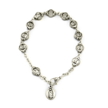 Our Lady of Miracles Catholic Rosary Bracelet
