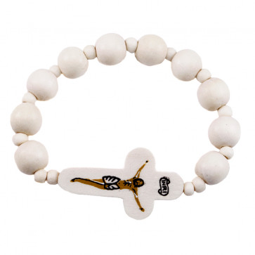 Catholic Wooden Beads Rosary Bracelet