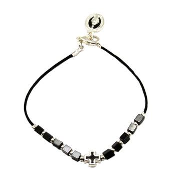 Hematite Beads Catholic Rosary Bracelet