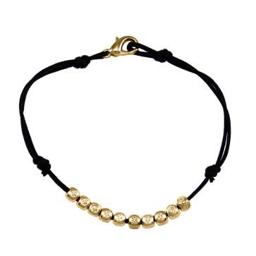 Catholic Gold Finish Cube Beads Rosary Bracelet