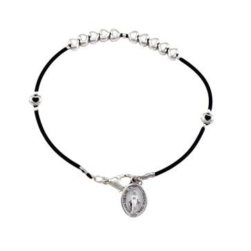Catholic Metal Heart Beads Rosary Bracelet