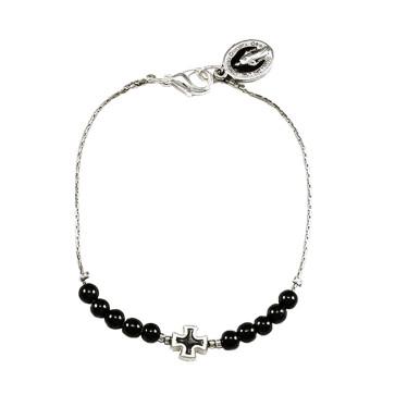 Hematite Round Beard Rosary Bracelet