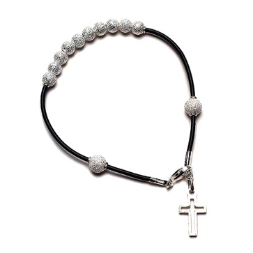 Diamond Dust Beads Catholic Rosary Bracelet