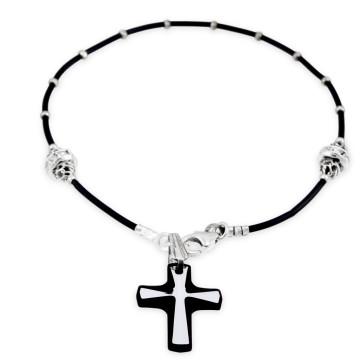 Swarovski Crystal w/ Sterling Silver Beads Catholic Rosary Bracelet
