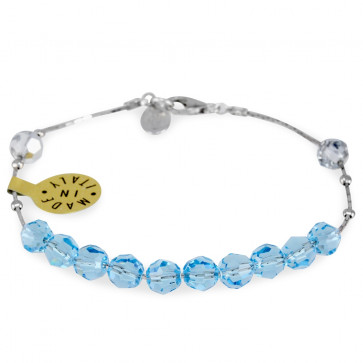 Catholic Swarovski Sliding Crystal Beads Rosary Bracelet