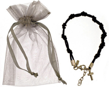 Knotted Catholic Rosary Bracelet