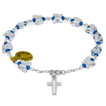 Swarovski Butterfly Beads Catholic Rosary Bracelet
