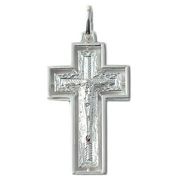 Sterling Silver Crucifix Catholic Pendant