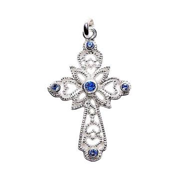 Swarovski Crystals Cross Catholic Pendant
