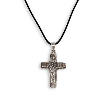 Sterling Silver Vedele Cross Pendent 1 1/4 inch