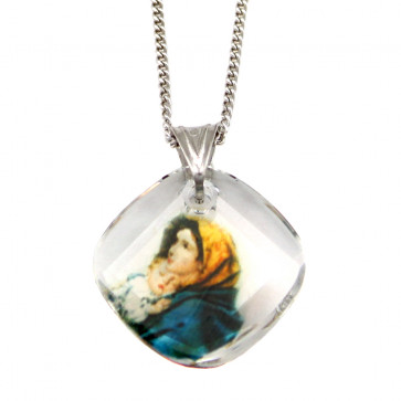 Swarovski Madonna of the Streets Crystal Catholic Pendant