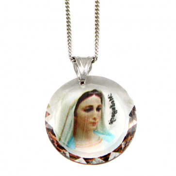Medjugorje Swarovski Medallion Catholic Pendant