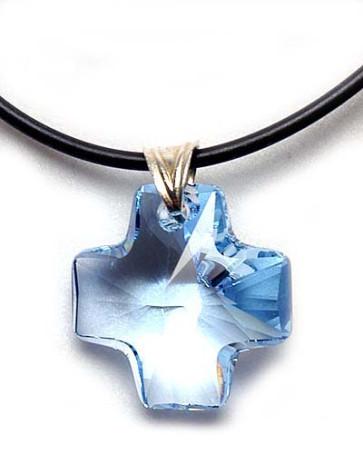 Swarovski Crystal Cross Catholic Pendant