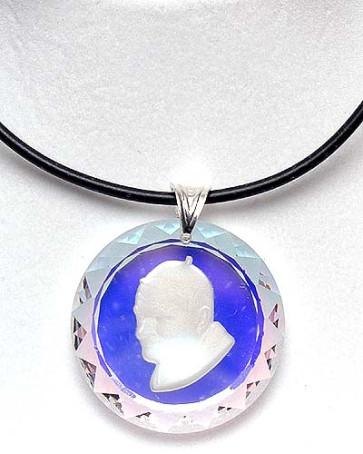 Pope John Paul II Swarovski Medallion Catholic Pendant
