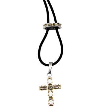 Swarovski Cross Catholic Pendant