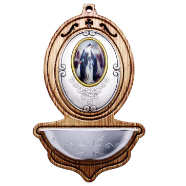 Catholic Our Lady of Grace Holy Water Font