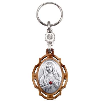 Sacred Heart of Mary Keychain