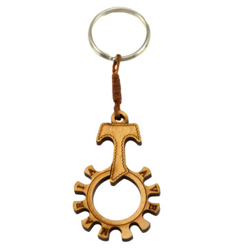 Tau Cross Decade Catholic Rosary Ring Keychain