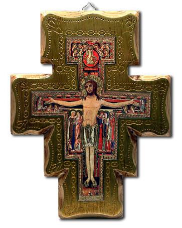 San Damiano Wall Catholic Crucifix