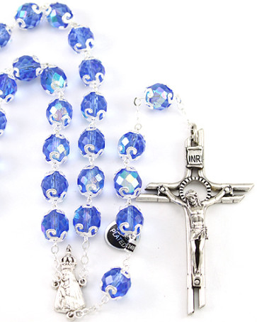Lady of Fatima Capped Beads Rosary