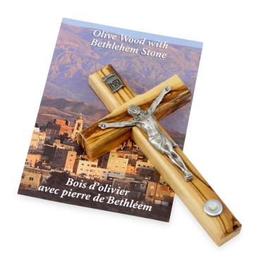Hanging Olive Wood Crucfix
